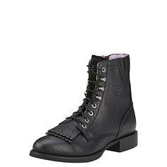 cdec0ed03b77b8 Ariat Womens Heritage Lacer II Western Cowboy Boot Black Deertan 65 W US --  More · WesternstiefelCowgirl StiefelReitstiefelHohe StiefelSchnürstiefel Schwarze ...