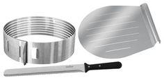 Stainless steel Layer Cake Slicing Kit to help you make layered cake magic.