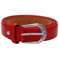 Stylehoops Red Sleek Look Belt #belt #redbelt