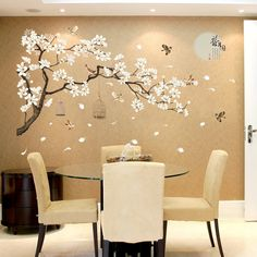Big Size Tree Wall Stickers Birds Flower Home Decor Wallpapers for Living Room Bedroom DIY Vinyl Rooms Decoration Wall Stickers Birds, Removable Wall Stickers, Window Stickers, Wall Decals For Bedroom, Vinyl Wall Decals, Vinyl Art, Bedroom Stickers, Sticker Vinyl, Decoration Stickers