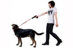 De schiet je hond riem