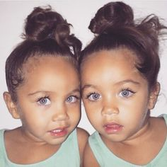 I hate it when people dress twins the same, but these two are so cute I'll pin them anyway.
