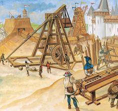 La Pintura y la Guerra. Sursumkorda in memoriam Medieval World, Medieval Weapons, Gothic Architecture, Dark Ages, War Machine, 14th Century, Military History, Middle Ages, Warfare