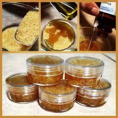 Sugar Lip Scrub  http://www.easy-home-made.com/lush-bath-products-diy.html