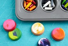 Give new life to old broken crayons by upcycling them into brand new ones.