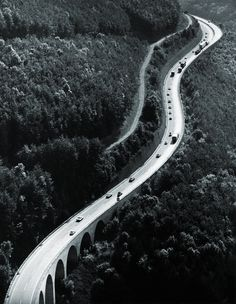 Autobahn Stuttgart-Ulm    photo by Hannes Kilian, 1968