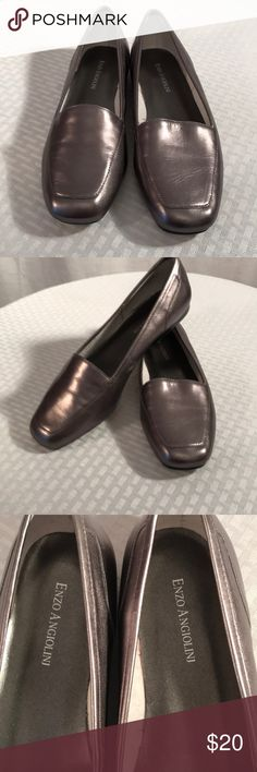 Shoes Beautiful pewter flats in 8 1/2 by Enzo Angiolini Enzo Angiolini Shoes Flats & Loafers