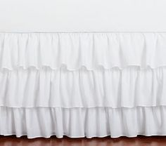 Shop ruffle bed skirt from Pottery Barn Kids. Find expertly crafted kids and baby furniture, decor and accessories, including a variety of ruffle bed skirt. Tulle Bedskirt, Ruffle Bed Skirts, Crib Skirts, Ruffle Bedding, Pottery Barn Kids, Nursery Bedding Sets, Under Bed Storage, Bed Mattress, Little Girl Rooms