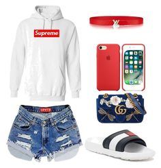 Untitled #5 by cryamilet19 on Polyvore featuring polyvore fashion style Tommy Hilfiger Gucci Levi's clothing