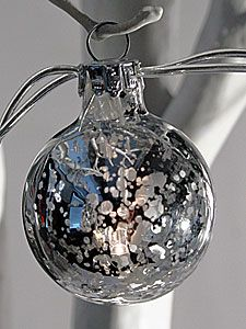 Check out the deal on Battery Operated Silver Crackle String Lights - 10 Lights at Battery Operated Candles