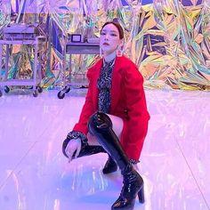 Red Leather, Leather Jacket, Girls Generation, Jackets, Character, Kpop, Style, Fashion, Studded Leather Jacket