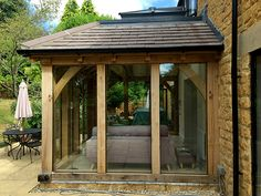 Oak framed orangery, side elevation detail, by Shires Oak Buildings – Home decoration ideas and garde ideas Orangerie Extension, Porch Extension, Cottage Extension, House Extension Design, Glass Extension, Kitchen Extension Oak, Side Extension, Extension Ideas, Up House