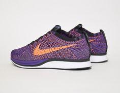 #Nike Flyknit Racer Purple Orange #sneakers
