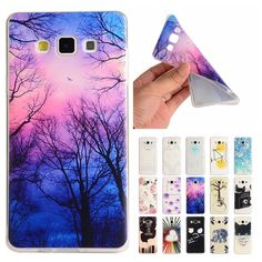 For Coque Samsung A5 Case Silicone Cute Transparent Cover for Samsung Galaxy A 5 2015 A500 A500F A5000 Slim TPU Soft Phone Cases