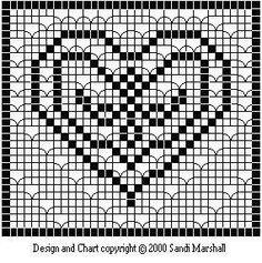 Heart Filet Crochet by Sandi Marshall