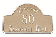 Welcome Arch Address Plaque