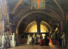 """""""Ordination of Jacques de Molay in 1265 at the Beaune commandery"""""""