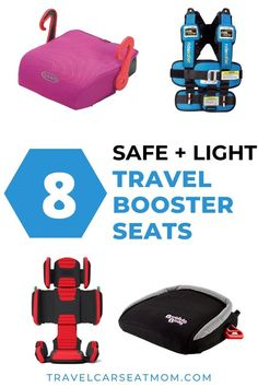 What's the best travel booster seat for your next family trip? CLICK to find the right option for your child's age, size and maturity - written by a CPST and family travel expert. You'll find travel booster car seat options for all budgets and travel styles, with the honest pros and cons of each. | travel booster car seats | portable booster seat travel | travel with kids | kid travel gear | child safety | best car seats for traveling Best Booster Seats, Best Car Seats, Booster Car Seat, Toddler Travel, Travel With Kids, Family Travel, Portable Car Seat, Travel Expert, Travel Tips