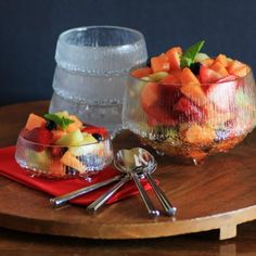 Grand Marnier Fruit Salad - dressed with a melted orange popsicle & Grand Marnier liqueur!
