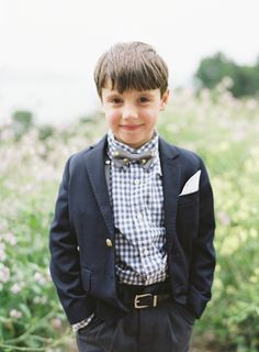 ADORABLE ring bearer outfit! // photo by Jen Huang