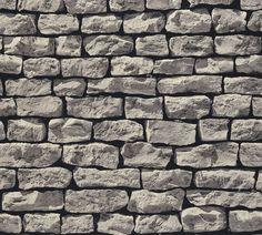Millwood Pines Wallick Wood Stone Brick L x W Wallpaper Roll Color: Dark Gray Brick Pattern Wallpaper, Stone Wallpaper, Feature Wallpaper, Wallpaper Roll, Wall Wallpaper, Dry Stone, Wood Stone, Stone Veneer, Faux Stone