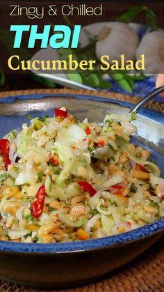 Indian Cucumber Recipe, Cucumber Recipes, Healthy Salad Recipes, Spicy Recipes, Raw Food Recipes, Vegetable Recipes, Indian Food Recipes, Asian Recipes, Vegetarian Recipes