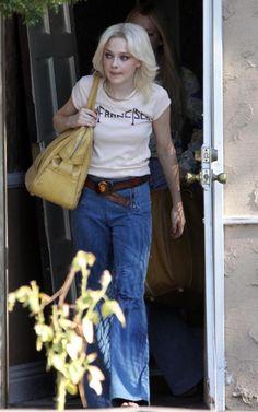 Dakota Fanning filming the The Runaways
