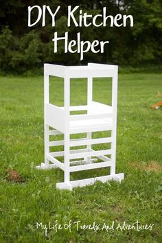 Kitchen Helper - Toddler Step Stool |#KitchenHelper #StepStool #DIY