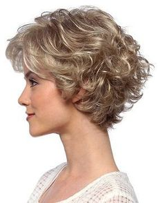 High Quality Curly Blonde Layered Popular Wigs,Lace Front Wigs (yes, I knew this is a wig. Short Shag Hairstyles, Short Curly Haircuts, Short Wavy Hair, Short Hair With Layers, Curly Hair Cuts, Blonde Layers, Curly Hair Styles, Curly Blonde, Curly Wigs