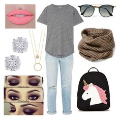 """""""Targeted Deception"""" by drummergirl95 on Polyvore featuring Kate Spade, Ray-Ban, Current/Elliott, Madewell, Forever 21, Lafayette 148 New York and Effy Jewelry"""