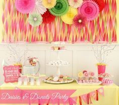 Super Cute Daisies and Donuts Birthday Party! { lilluna.com } Lots of creative ideas for your next girl party!