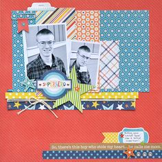 Aly Dosdall: winter collections winner + teen boy scrapbook page