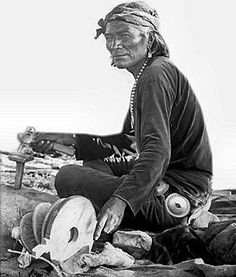Navajo Silversmith - No name - Photographer unidentified - ca. 1900.