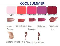 Mary Kay Lip colors for cool summer