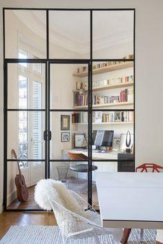 Porte atelier d'artiste à deux vantaux