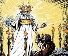 Jesus in Midst of 7 Lampstands with 7 Stars & Sword