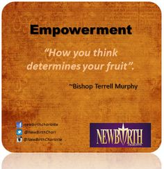 How you think determines your fruit.