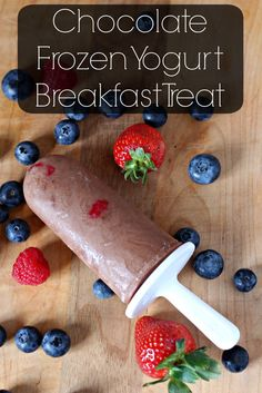 Why not have dessert for breakfast? It's nutritious too! Chocolate Frozen Yogurt Breakfast Treats will be your new grab and go breakfast. ad #BetterBreakfast