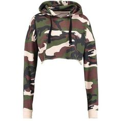 BARBIE CAMO CROPPED Sweatshirt khaki (150 BRL) ❤ liked on Polyvore featuring tops, crop top, shirts, cropped hoodies, white crop top, white camo shirt, camoflage shirt, shirt crop top and khaki shirts