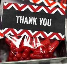 thank you treats for fire fighters | Firefighter birthday party treat bag toppers, thank you tags, instant ...