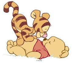 tigger y winnie the pooh bebes disney para imprimir