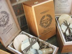 cigar box shaving kits