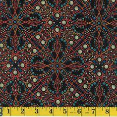 Deco Orbits Orange by Jason Yenter 4DEC1 In the Beginning Fabrics By the Yard #InTheBeginningFabrics