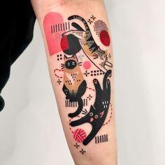 Creative Tattoos, Great Tattoos, Body Art Tattoos, Small Tattoos, Awesome Tattoos, Kritzelei Tattoo, Get A Tattoo, Tattoo Shop, Kitten Tattoo