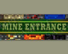 Minecraft Inspired Door sign