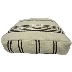 Pre-Owned Beni Ourain Moroccan Floor Cushion ($425) ❤ liked on Polyvore featuring home, home decor, throw pillows, moroccan home decor, moroccan throw pillows and moroccan style home decor