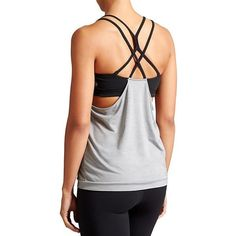 Athleta Women Mesh Energize Tank Size L ($36) ❤ liked on Polyvore featuring tops, mesh tank, relaxed fit tops, relaxed fit tank top, yoga tank and mesh top