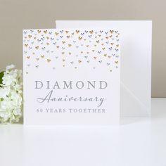 Amore Deluxe Card - Diamond Anniversary - WAM105