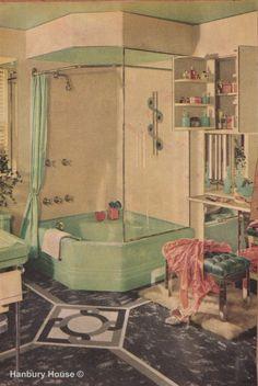 Image detail for 0003 Mid Century Scrapbook Bathrooms Retro 50, Regal Design, Design Design, Interior Design, Interior Colors, Mid Century Bathroom, Vintage Bathrooms, 1950s Bathroom, Retro Home Decor