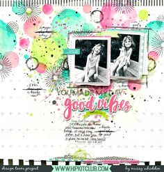 Hip Kit Club DT Project - 2018 May Hip Kits; Vicki Boutin paints & stamps, Simple Stories chipboard, Amy Tangerine clear stamps, Heidi Swapp papers, Pretty Little Studio die cuts, exclusive Project Life cards, Pinkfresh Studio Papers